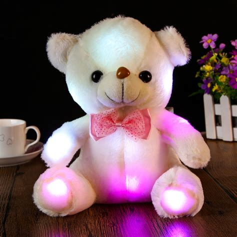 Boneka Led Plush Doll 20cm 20 30cm large led plush toys glowing teddy