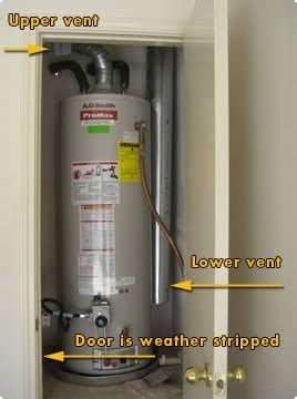 water heater in bedroom closet gas water heater in a closet doityourself com community