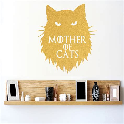 home decor decals of thrones of cats khaleesi wall sticker home