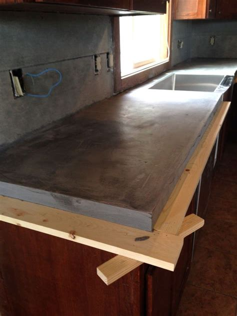 how to build a concrete bar top best 25 concrete kitchen countertops ideas on pinterest