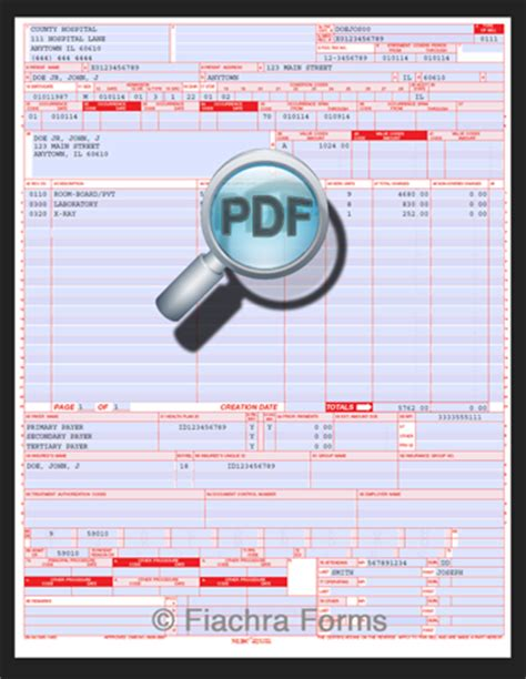 Image Of Ub 92 Fill Printable Fillable Blank Pdffiller 17 Cms 1500 Claim Form Pdf Blank 1500 Claim Form Car Interior