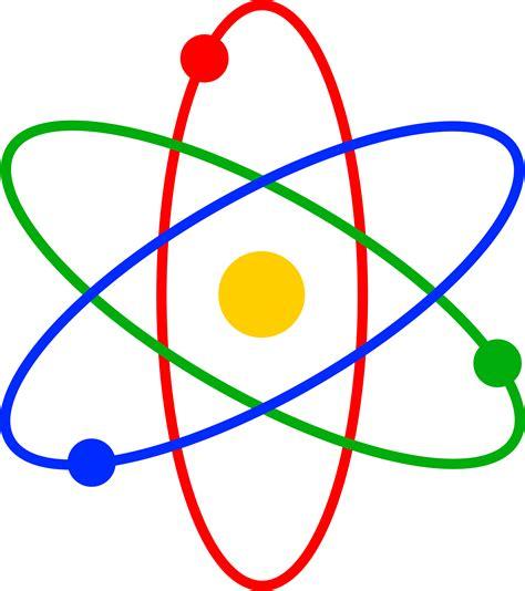 Symbol Of Protons Colorful Atom Symbol Free Clip