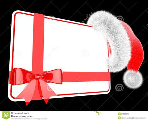A Gift Card Santa - santa hat with a gift card royalty free stock photos image 21823288