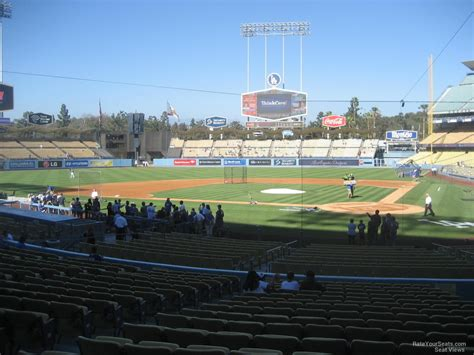 dodger stadium sections dodger stadium section 7 rateyourseats com