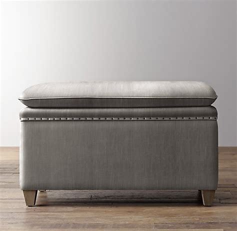 velvet storage bench classic nailhead velvet storage bench