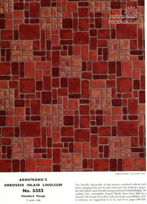 Armstrong 5352 Embossed Inlaid Linoleum   the most popular