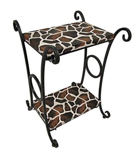 print accent table the coolest giraffe decor for your home