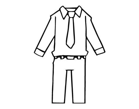 imagenes para colorear ropa dibujo de ropa de hombre para colorear dibujos net