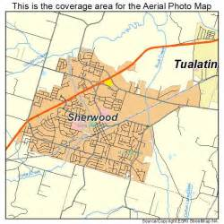 aerial photography map of sherwood or oregon