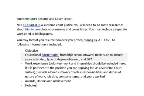 neil gorsuch resume solved supreme court resume and cover letter neil gorsuc