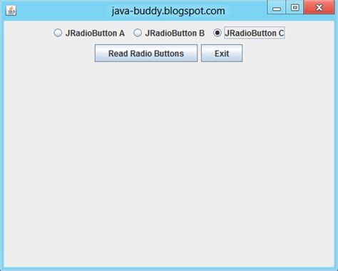 jradiobutton exle in java swing jradiobutton class in java swing 28 images java swing