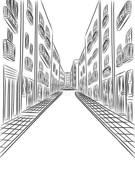 city background drawing detailed buildings on the vector drawing stock