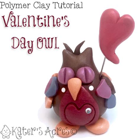 katersacres polymer clay s day owl tutorial