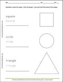 basic shapes reproducible coloring and writing sheet for kids