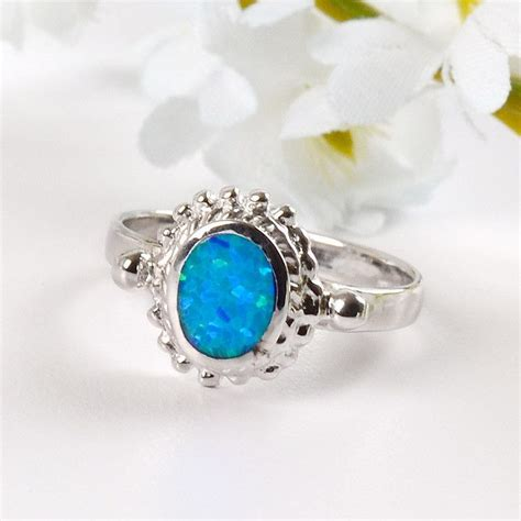 blue green opal opal rings blue green opal ring the store