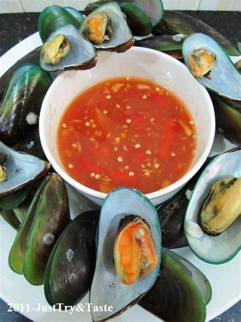 Kerang Hijau just try taste kerang hijau rebus dengan saus pedas asam manis clam
