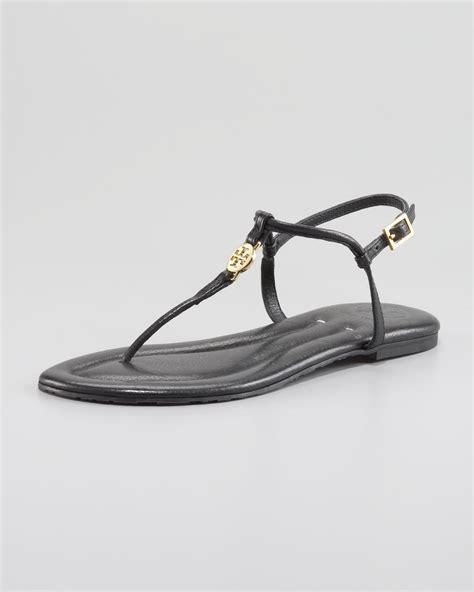 black burch sandals burch emmy logo sandals in black lyst