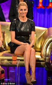Leather Sofa Legs Tess Daly Appears On Alan Carr In Minidress Daily