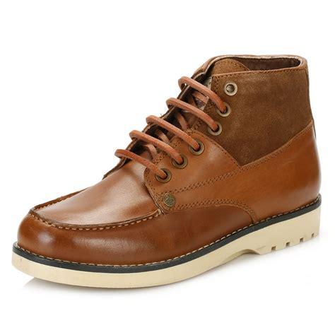 penguin mens boots penguin mens ankle boots brown jailer leather lace