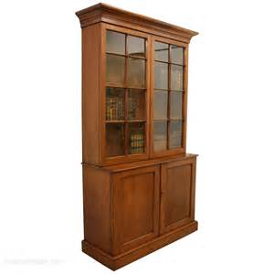 Bookcase Cabinets With Doors Georgian Style 2 Door Cabinet Bookcase Antiques Atlas