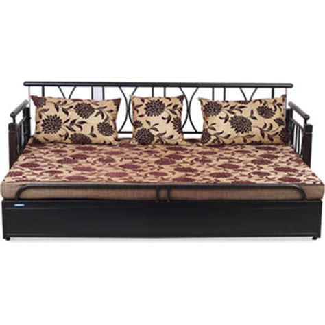 sofa cum bed in steel nilkamal flint metal sofa cum bed black in india