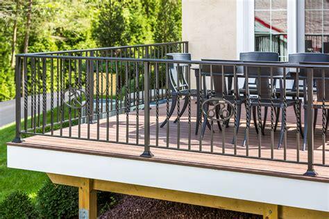 Iron Deck Spindles Wrought Iron Deck Railings Designs Halflifetr Info