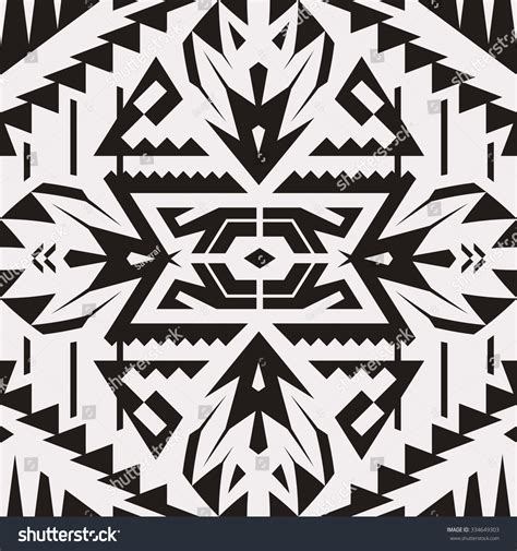 Black Mix Tribal Exvlusive vector seamless black white tribal pattern stock vector 334649303