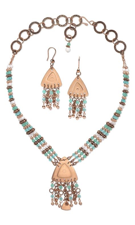 copper blanks for jewelry jewelry design strand necklace and earring set