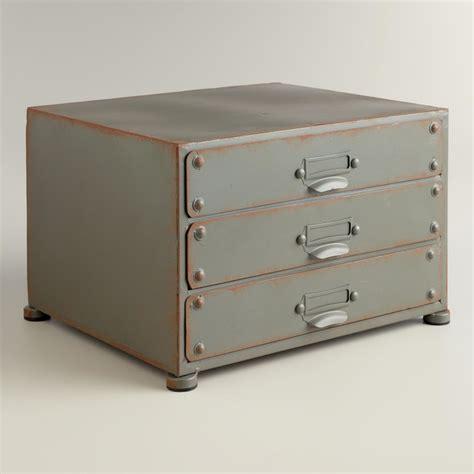 Industrial Desk Accessories Zinc 3 Drawer File Industrial Desk Accessories By Cost Plus World Market