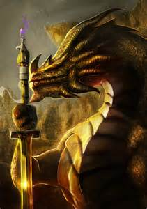 the golden the golden dragon katana by brollonks on deviantart