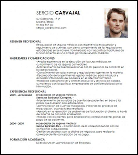 Modelo De Curriculum Vitae Para Medicos Peru Modelo Curriculum Vitae Recaudador De Seguros M 233 Dicos Livecareer