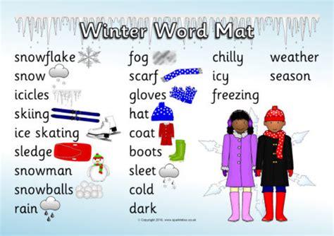 winter word mat sb sparklebox