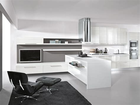 modern lacquer black and white kitchen design ideas by