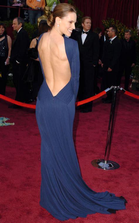 Oscars Carpet Hilary Swank by Winning The Stunning Gowns Of Best Oscar