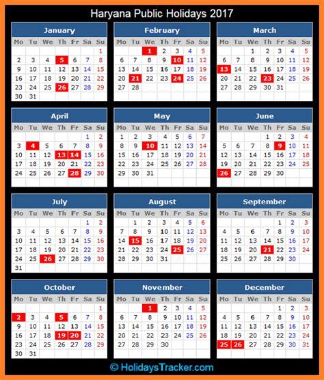 Calendar 2018 Haryana Haryana India Holidays 2017 Holidays Tracker