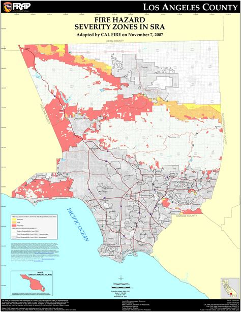 California Property Records Los Angeles County Cal Los Angeles County Fhsz Map