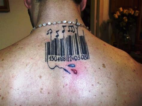 barcode tattoo chapter summaries music notes barcode tattoo on upperback tattooshunt com