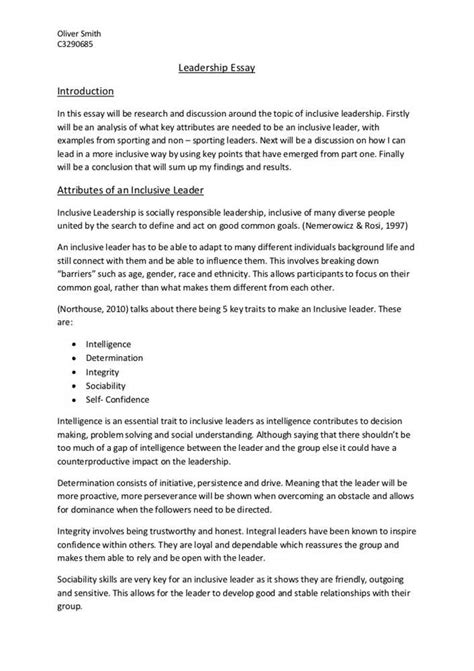 leadership essay sle write term paper