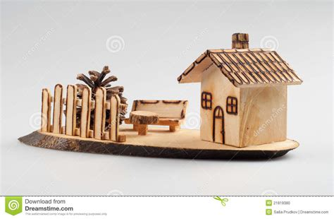 maison en bois d 233 coration photo stock image