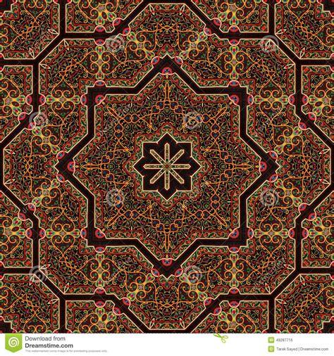 art pattern maker seamless khayameya pattern design 027 stock illustration