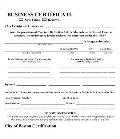 Blank Certificate 9 Free Word Pdf Documents Download Free Premium Templates Free Business License Template