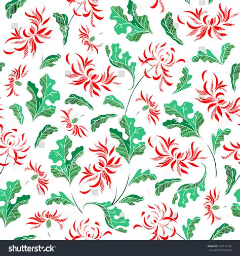 vintage japanese pattern seamless raster vintage japanese pattern with lily stock