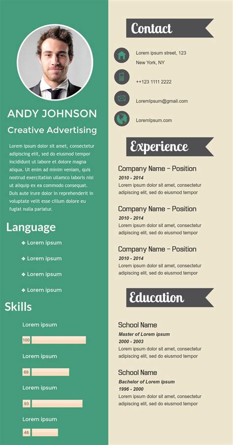 simple visual resume simple professional visual resume available in visme infographic resume ideas