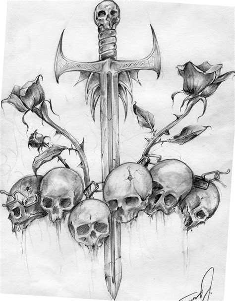 sick skull tattoo designs pinkbizarre custom designs