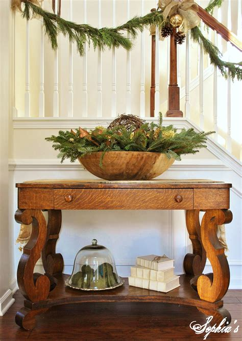 entry way table decorating sophia s christmas stairs and entryway
