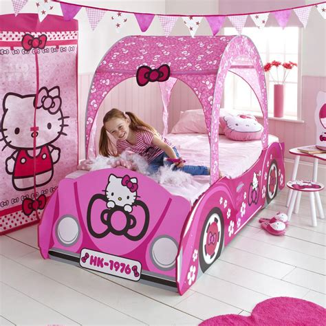 hello kitty beds hello kitty junior toddler bed feature car new with spring mattress ebay