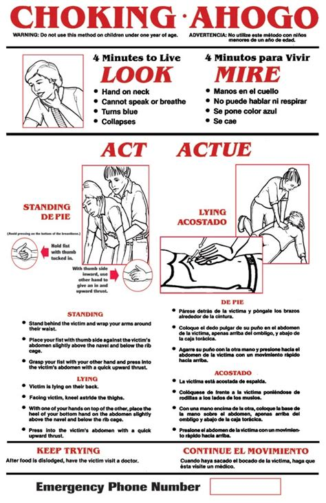 printable choking instructions choking poster