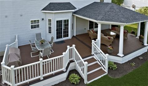 Patio Roof Designs Trex Deck With Hip Roof And Grill Bump Out Courtyards Patios Decks Pinterest Decks Hip