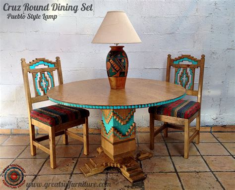 cruz southwest style  dining set tables chairs