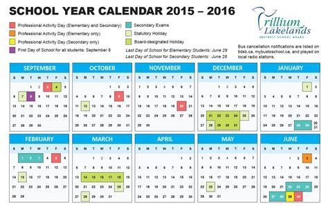 American Academic Calendar School Year Calendar Trillium Lakelands District School